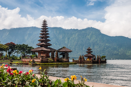 Pura Ulun Danu temple at Beratan lake  in Bali,Indonesia. photo