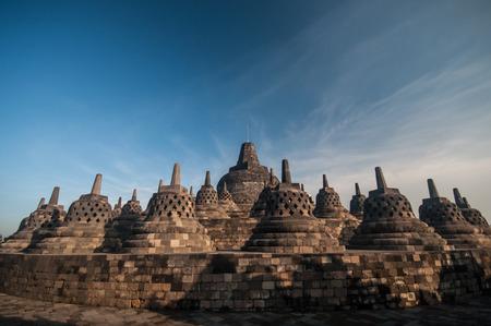 Borobudur Temple at morning, Yogyakarta, Java, Indonesia. photo