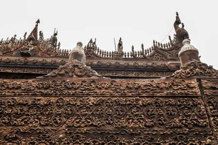 significant: Shwenandaw Kyaung temple  or Golden Palace Monastery is one of the most significant historic buildings in Mandalay. Editorial