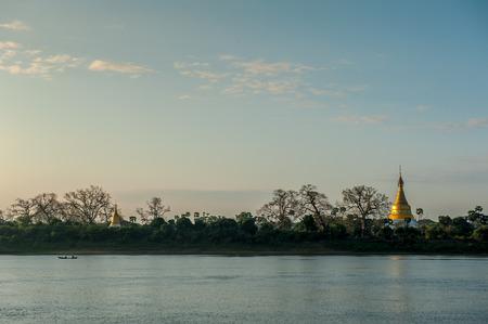 banian tree: Ancient city of Sagaing Mandalay Myanmar.