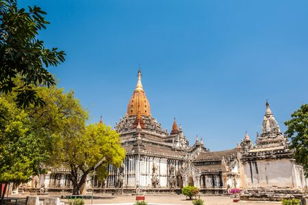 finest: Ananda Temple in Bagan Myanmar.Ananda Pagoda is one of the finest largest best preserved and most revered of the Bagan Pagodas
