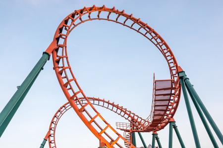 rollercoaster in thailand Foto de archivo