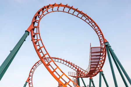 rollercoaster in thailand Stock Photo