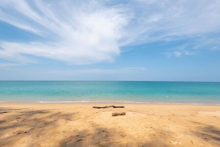Beautiful tropical beach with sand and sky on sunny summer day in Phuket,Thailand Zdjęcie Seryjne