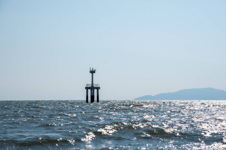 Small lighthouse in the sea at Trang provine Thailand