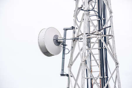 Telecommunication tower of 4G and 5G cellular.