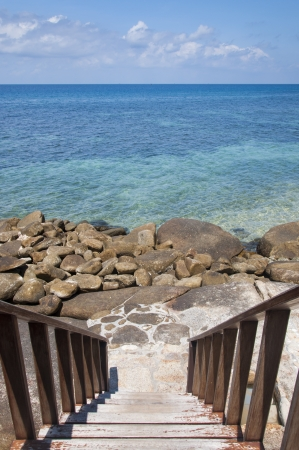meer: staircase to the sea at koh tao