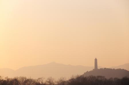 sainthood: pagoda at the summer palace Stock Photo