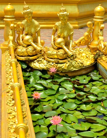 statue in thai temple photo