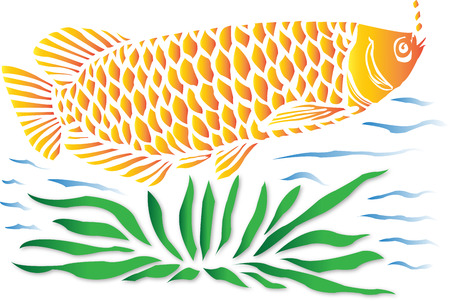 Fish In A Water Illustration