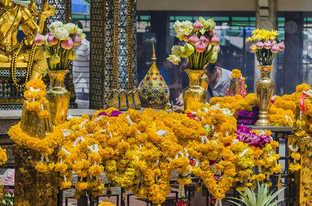 phrom: shrine of the four-faced Brahma statue at Ratchaprasong Junction