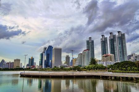 benjakitti: view of benjakitti park in Bangkok, Thailand