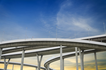 Highway Bridge with sky background