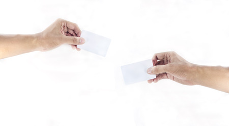 hand exchanging a card
