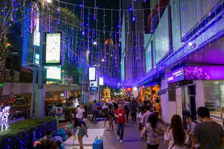 december 31: BANGKOK December 31 : Shopping Street Nigth at platinum shopping mall before Christmas and happy new year festival, on december 31, 2014 in Bangkok, Thailand Editorial
