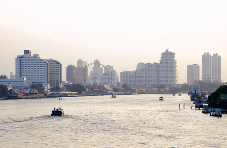 alluvial: BANGKOK - July 3: Chao Phraya River, Chao Phraya River is a major river in Thailand, with its low alluvial plain forming the centre of the country.on july 3, 2014 in Bangkok, Thailand