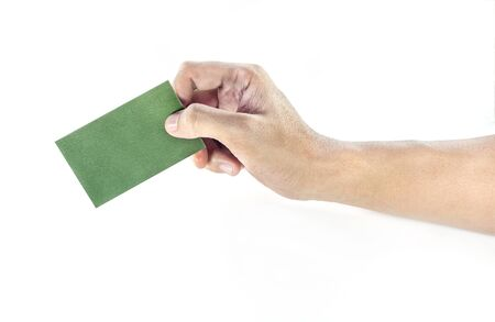 pick: hand pick a card Stock Photo