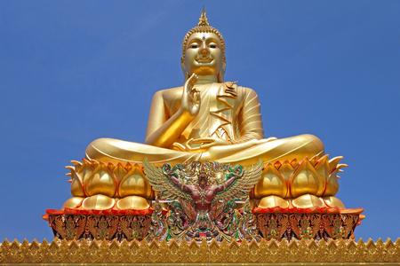 prodigious: golden big buddha statue