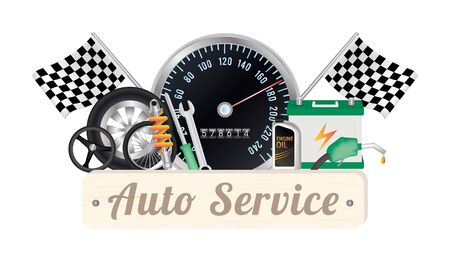 auto service: auto service Illustration