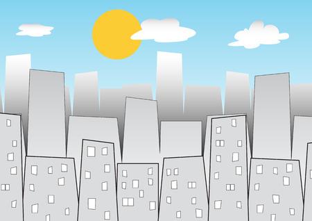 city background: daytime city background Illustration