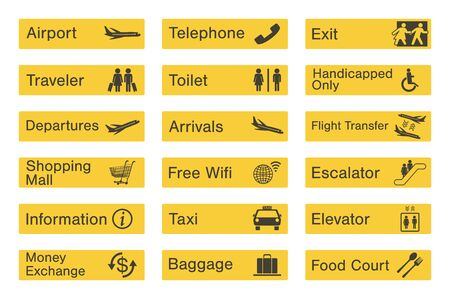 airport sign: Airport sign set Illustration