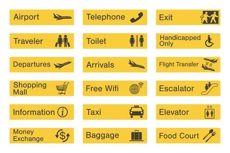 Airport sign set