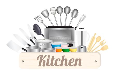 キッチン キッチン ツールを使って木板