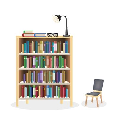 bookcase Illustration