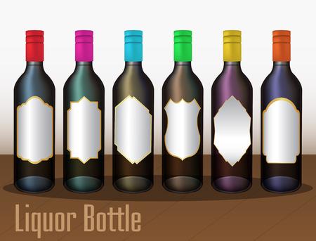 botella de licor: Botella de licor