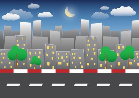city background: night city background