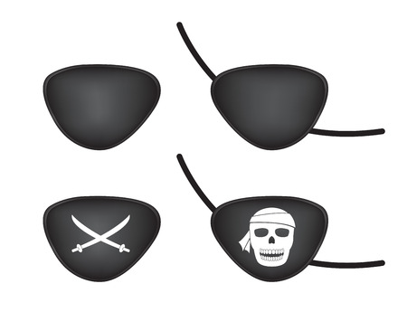 pirate eye patch Ilustrace