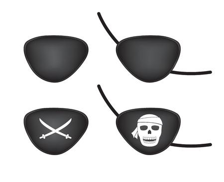 sombrero pirata: remiendo del ojo del pirata Vectores