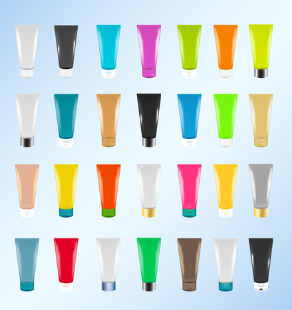 flexible: Colorful Cosmetic tubes