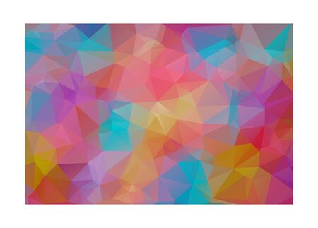 ice surface: Abstract Colorful Triangular Background