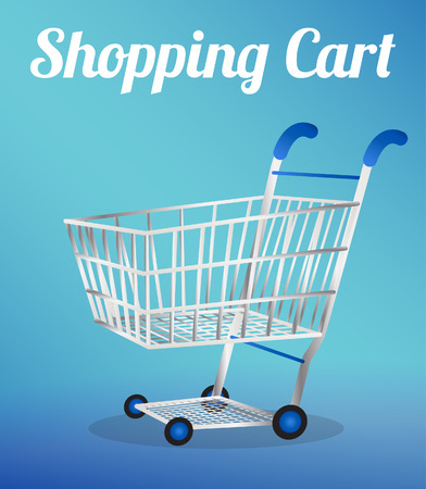 trolly: Empty Shopping Cart Illustration