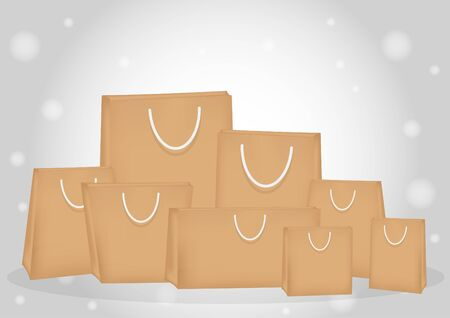 paper bags: brown paper bags Illustration