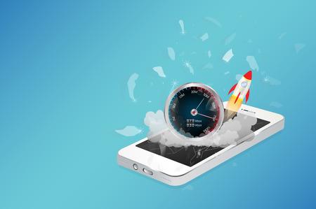 hi speed: smart phone device with hi speed internet