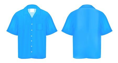 polo t shirt: Blue Polo shirt