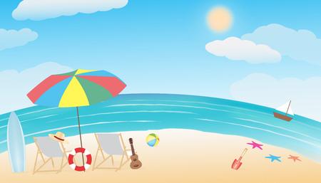 summer sea beach Illustration