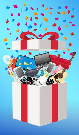 opening gift: General object in a opening gift box