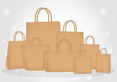 sacs en papier brun Vecteurs