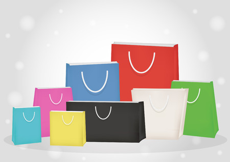 paper bags: colorful paper bags Illustration