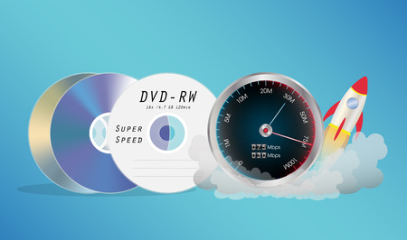 blueray: DVD Disk with speed meter