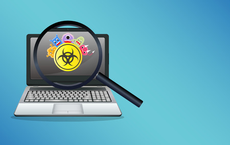 computer virus protection: laptop infected virus computer