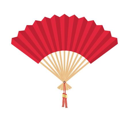 chinese fan: Chinese Fan Illustration