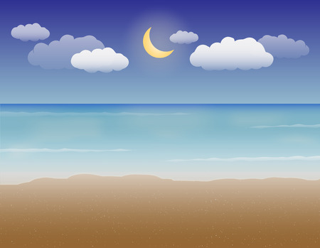 holliday: sea sand and night sky