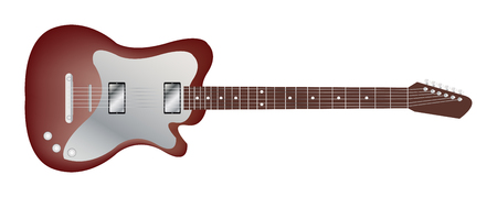headstock: red classic electric guitar