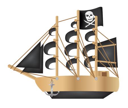 galleon: Pirate galleon Illustration