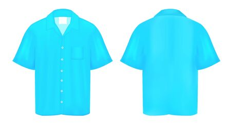 polo t shirt: Light Blue Polo shirt Illustration