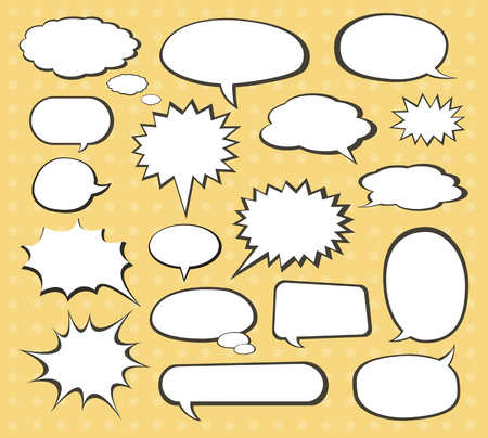 comic bubble: comic speech bubble